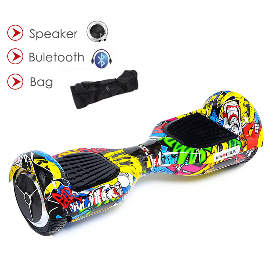 все цены на Two Wheel Self Balancing Scooter Electric Skateboard Hoverboard Gyroscooter Giroskuter Stand Up Hover board overboard oxboards