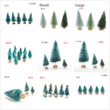 5/10PCS Christmas Tree Arbol De Navidad New Year's Products Mini Christmas Tree Adornos De Navidad Para Casa Choinka Sztuczna(China)