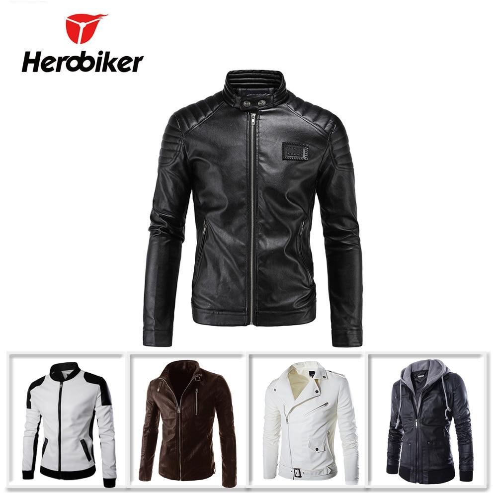 New Motorcycle Jacket PU Leather Men Vintage Motobike Faux Punk Motorcycle Leather Jacket Biker Clothing Retro Stylish Coat oblique zipper faux leather biker jacket