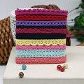 50 yards color cotton lace fabric art manually DIY random send color lace 1 cm wide