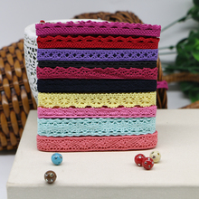 50 yards color cotton lace fabric art manually DIY random send 1 cm wide