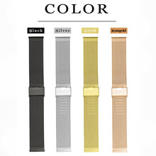 купить For Pebble Time Round Smart Watch Milanese Strap High Quality Stainless Steel Watchband 14mm 20mm Men Women  0.8 Wire Mesh по цене 585.53 рублей