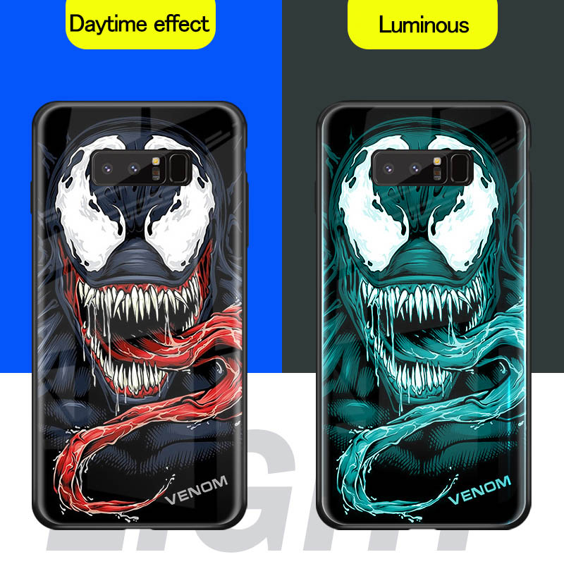Luminous Phone Case For Samsung Galaxy S10 S9 S8 Plus S10E Note 9 8 J2 Prime J5 J7 Pro 2017 J4 J6 Plus Tempered Glass Cover Case in Fitted Cases from Cellphones Telecommunications