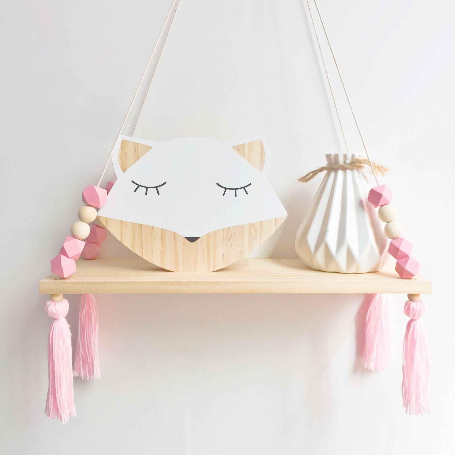 Nordic Wooden House Wall Trinket Shelf Decor Scandi Children/'s Kids Room Nursery