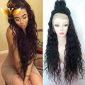Peruvian Deep Wave Full Lace Wigs Virgin Unprocessed Deep Wave Lace Front Wig 100% Human Hair Wig For Black Women With Baby Hair