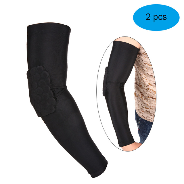 8b0970bbe2 Lixada 2PCS Arm Sleeve Pad Basketball Elbow Support Guard Protector Sports  Compression Cellular Protective Sleeve Pad
