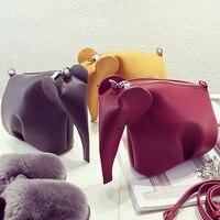 New dễ thương động vật Elephant mẫu quần áo người mẫu thời trang nhỏ túi điện thoại di Flap Shoulder phụ nữ túi messenger Bag Purse 5 Colors