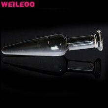 Маленький размер Buttplug Стекло Анальная пробка анальный плагин стекла «секс-игрушки для взрослых для мужчин женщина