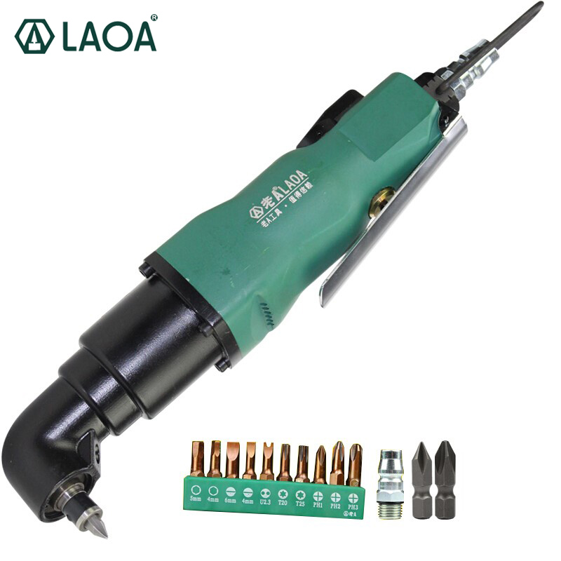 цена на LAOA Right-angle Air Screwdriver Air Tools 90 Degree Air Tool 5H/8H Bend Air Screwdriver Pneumatic Tools Power Tool