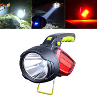 300LM LED Intelligent Bright 18650 Led Flashlight Red/White Light USB Rechargeable Outdoor Warning Camping Lamp Searchlight
