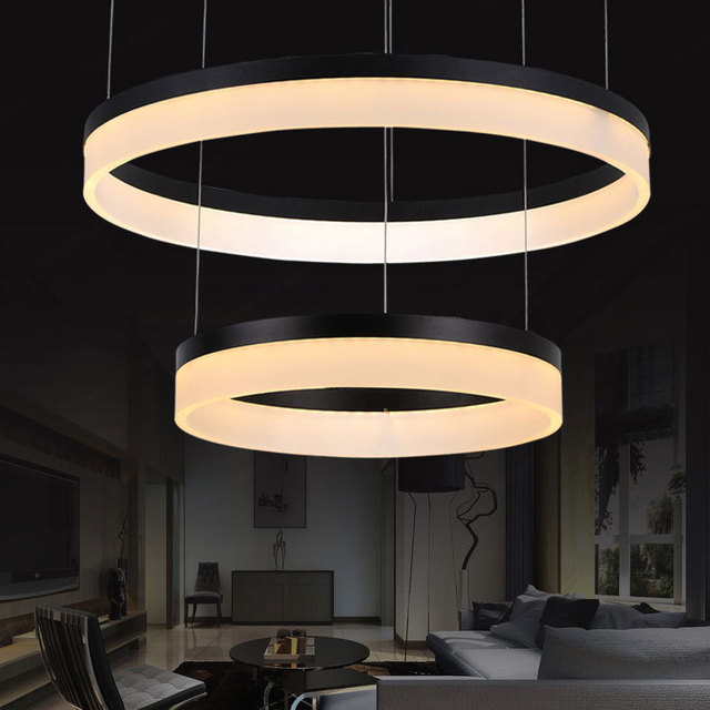 Pendant Lights Of High End Multi Circular Led Lamp Living