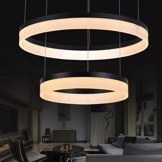 pendant lights of high end multi circular LED lamp living ...