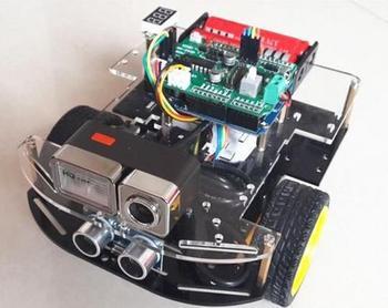 Бесплатная доставка, автомобиль Android с Wi Fi, беспроводной робот видеомониторинг с дистанционным управлением, включая функцию избегания преп