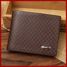 16e224590c Promotion Male Wallets Casual Short Design Wallet For Men Business Brand  Card Holder Purse Men s Genuine Leather Short Purse