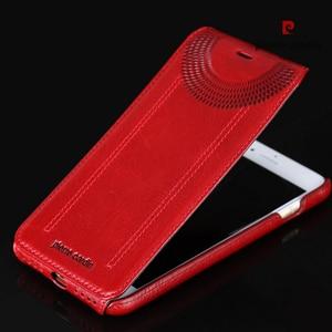 Image 3 - Original Pierre Cardin Phone Cases Bags For iPhone 7 8/ 8 Plus Cover Genuine Leather Vertical Flip Case For iPhone 8 7 Plus Case