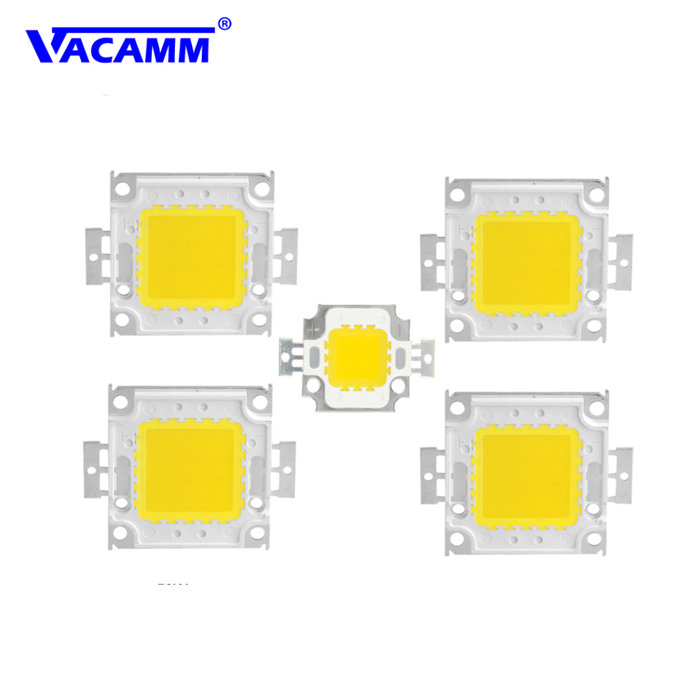High Power 10W 20W 30W 50W 100W LED COB Chip White Warm White Lamp Bulb Integrated SMD Light Bulb For DIY Spotlight Floodlight honsco e10 1w 3000k 70lm 5050 smd led warm white light screw bulb for diy pair 12v