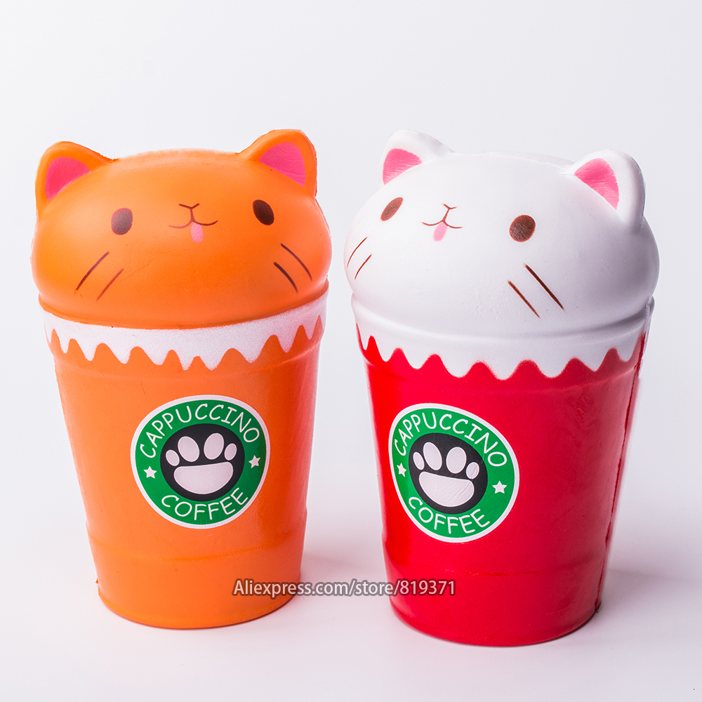 Relax Toy Temperature Color Change Squishies Adorable Cut Coffee Cup Cat Super Slow Rising Scented Reliever Stress Toy D300108 Products Hot Sale Squeeze Toys Stress Relief Toy