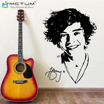 Online Shop DIY Black Wall Sticker One Direction Poster Girls - One direction wall decals