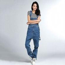 Женские джинсовые комбинезоны в стиле хип-хоп, конические комбинезоны, Свободный Повседневный комбинезон в Корейском стиле, хлопковые Тонкие штаны с пулями