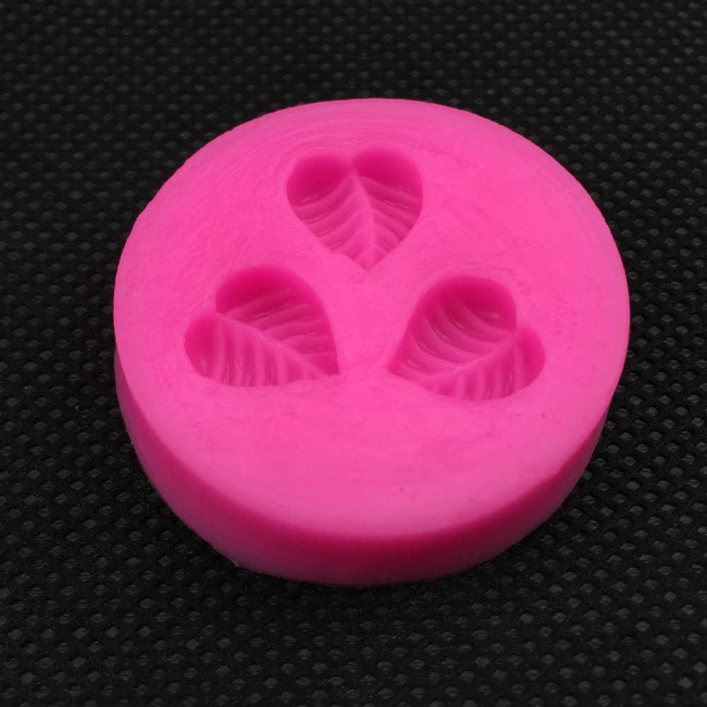 Форма листьев помадка силиконовая форма для формы из полимерной глины кухня шоколад для выпечки Кондитерские конфеты глина делая инструмент украшения F213