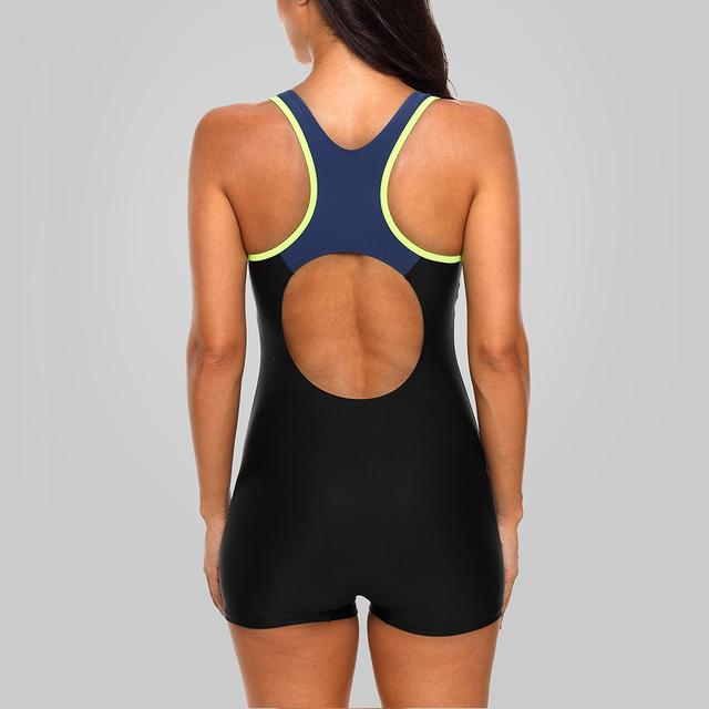 Charmleaks one piece kobiety sporty stroje kąpielowe sport strój kąpielowy Colorblock stroje kąpielowe Otwórz z powrotem Beach Wear stroje kąpielowe bikini