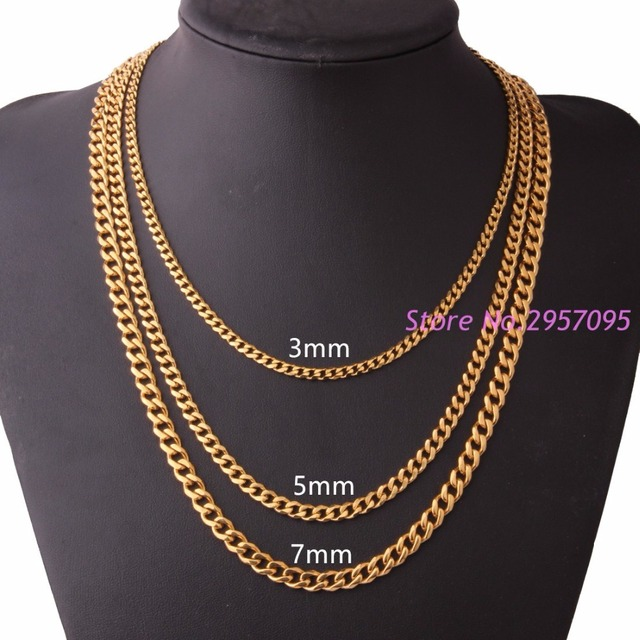 necklace mart plated cuban stamped gold for men boys teen curb wide chain marosia