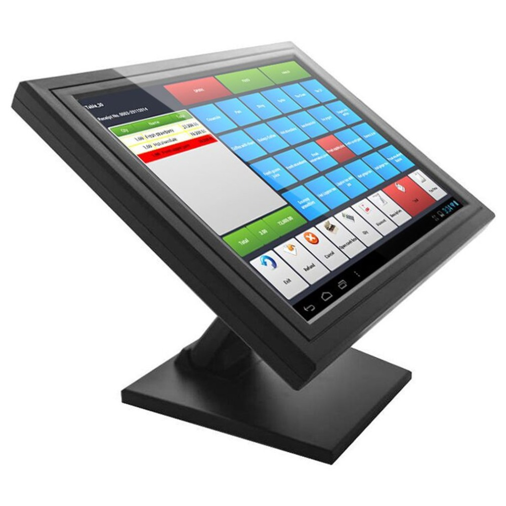 15 Inch Ultra-Thin Lightweight TFT LED Screen Display Touch Screen Monitor Exquisite Shell for Restaurant Retail Bar Pub AU eyoyo c15 tft vga 15 touch screen lcd pos monitor retail restaurant bar pub touchscreen 1024x768 free shipping