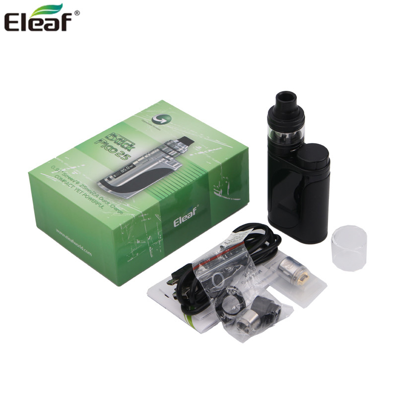 100% Original Eleaf iStick Pico 25 Kit with 2ML ELLO Tank HW Coils and 85W Istick Pico 25 Box MOD Electronic Cigarette Vape электронная сигарета eleaf istick pico resin 75w kit разноцветный