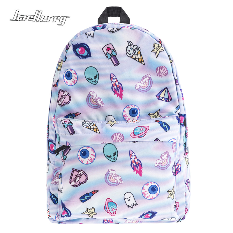 New 2017 Cute Patch Holo 3d School Bags For Teenager Print Fashion Mochila Masculina Casual Bookbag Backpacks Rugzak Sac A Dos
