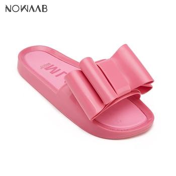 bdcfaa98 Melissa arco zapatos de playa 2019 mujeres Sandalias planas marca Melissa  mujeres jalea zapatos para mujeres
