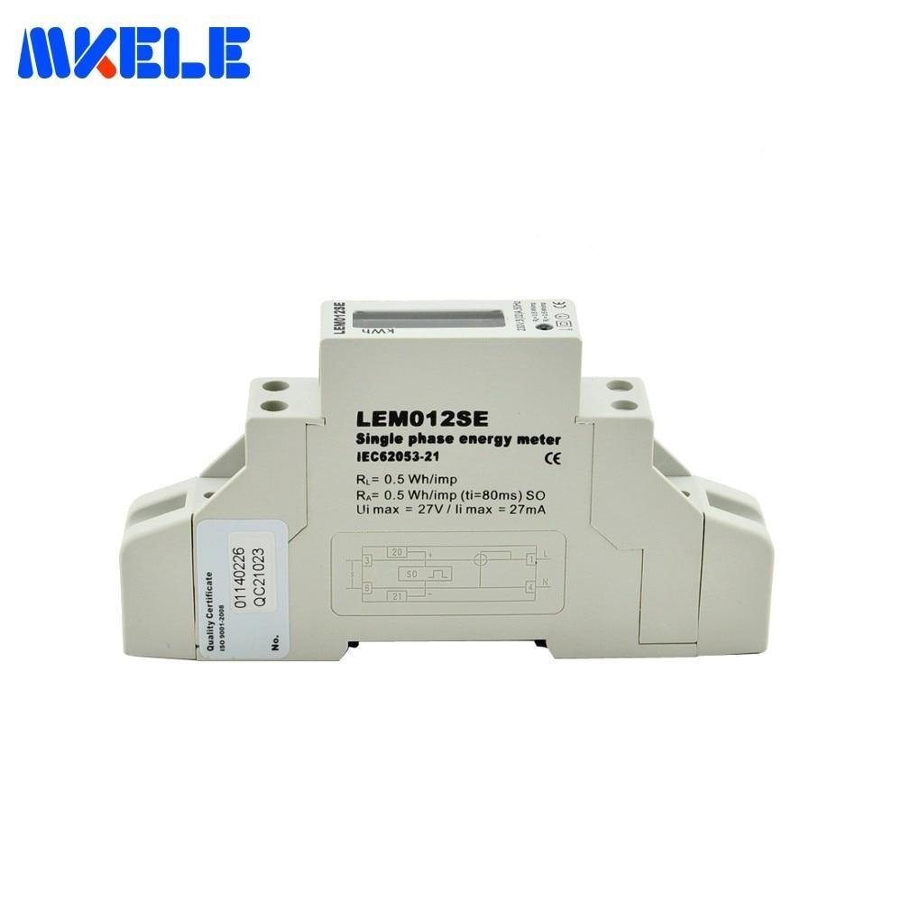 US $22 17 5% OFF|MK LEM012SE AC Din Rail Smart Energy Meter LCD Single  Phase Digital KWH Watt Hour Din Rail Energy Meter Monitor Wattmeter-in  Energy