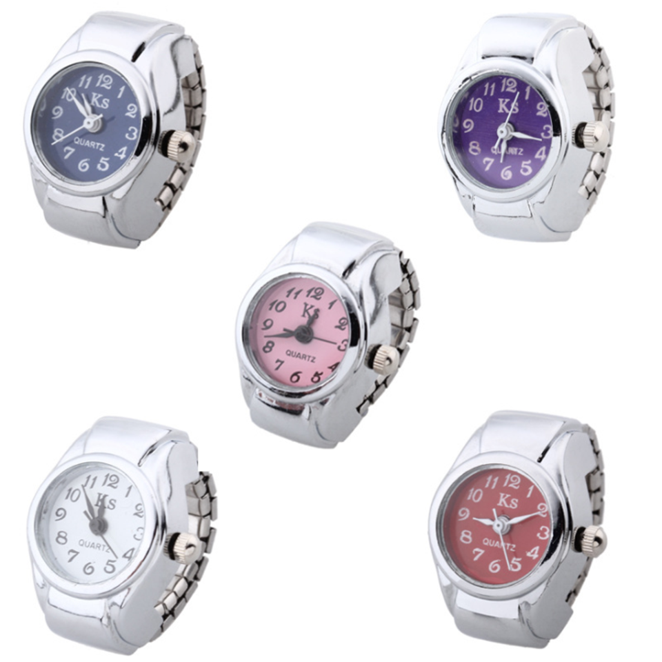 MQUPIN Fashion Personality Ring Watch Popular Digital Watch Ring Men and Women Fashion Simple Accessories Couple StudentS Clock