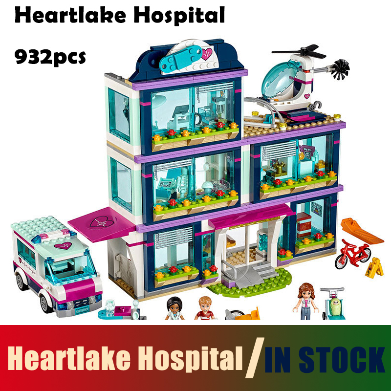 Compatible with Lego Models building blocks toy 01039 friends Girls Heartlake Hospital kids Bricks diy toy set girl gifts 41318 10494 friends city supermarket building bricks blocks set mia daniel girl toy compatible lepine 41118