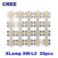 cree xml2 t6u2u3 led diy flashlight 10W 1052LM headlight led Automotive Lamp bike light CW NW WW 20pcs/lot