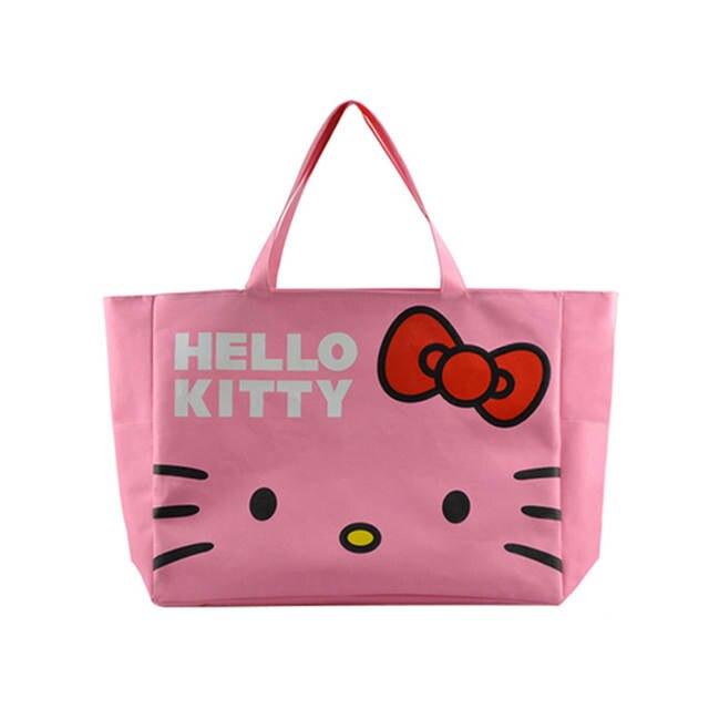 f15fa3b40960 placeholder Foldable Cute Handbags Girl Women Travel Organizer Hello Kitty  Shoulder Eco Shopper Beach Bags Accessories supplies