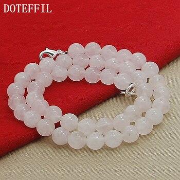 Женская цепочка из натурального жемчуга DOTEFFIL, ожерелье из стерлингового серебра 925 пробы, 18 дюймов, свадебные украшения для вечеринки, алиэкспресс в рублях