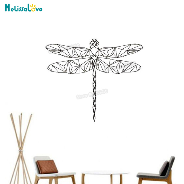 Baby Wall Sticker Geometric Lovely Dragonfly Wall Sticker For Kids Room  Decals 3d Vinyl Wall Art