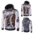 Sz M-XXL Punk Sweatshirt Men 3D Poker K Printed Color block Slim Hooded Fit Pullover Casual Hoodies & Sweatshirts Males Clothing