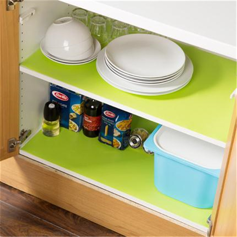 good Kitchen Cabinet Mats #8: 1PC/Lot 150cm Length EVA Kitchen Cupboard Mat Liner Anti Slip Oil Proof  Washable Kitchen
