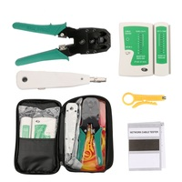 Portable Ethernet Network Cable Tester Tools Kits RJ45 Crimping Crimper Stripper Punch Down RJ11 Cat5 Cat6 Wire Line Detector Networking Tools