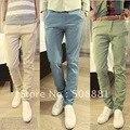 2015 moda primavera invierno de hombre Casual pantalones nueva Harem pantalones de hombre para hombre, pantalones de moda azul, verde, blanco m,l xl, xxl, 3XL