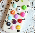 100 Pcs MIX Free Shipping 14*14mm Resin  Letter M Bead Flatback Cabochon Scrapbook Craft Fit Phone Diy