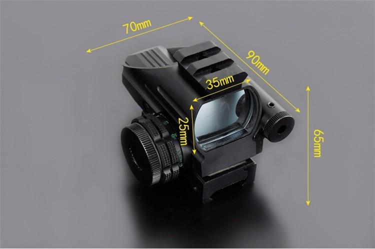 Mini merah dot lingkup dengan lll night vision laser senapan angin