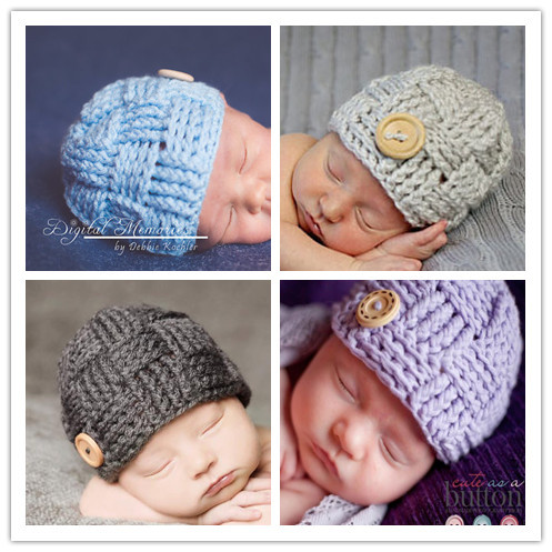 15 Colors Baby Hat Winter Newborn Girl Beanie Cape Pattern Boys Hat