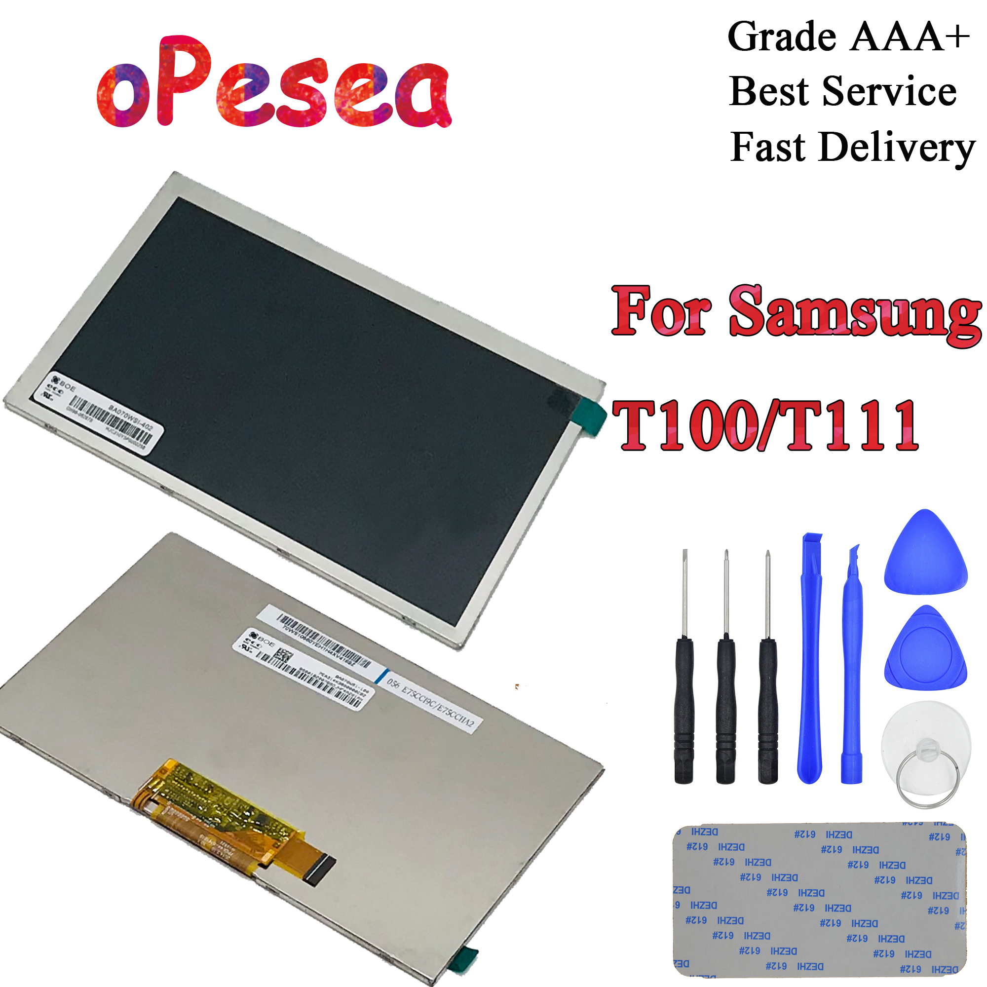 OPesea For Samsung Galaxy Tab 3 Lite 7.0 T110 T111 T116 T113 SM-T110 SM-T111 LCD Display Screen Moduel Replacement Parts