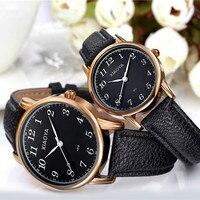 Лидер продаж ремешок пара смотреть женский мужской Часы любовника Часы 4 вида стилей розовое золото часы с кожаным ремешком Reloj Mujer Reloj ho