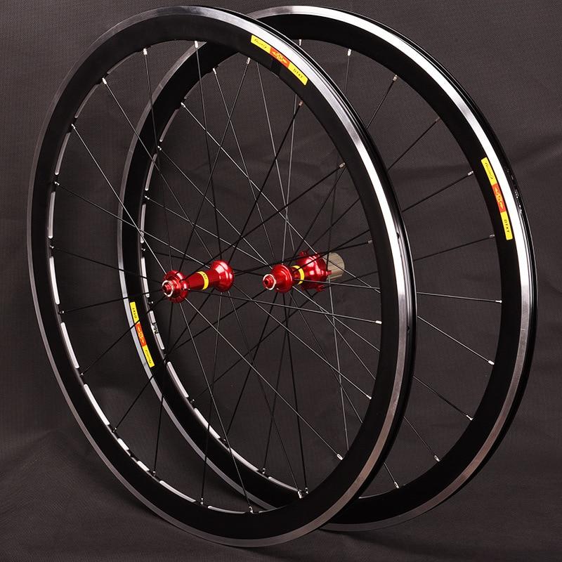 Haute qualité 700C haute 40mm V frein disque alliage vélo roues frein Bmx vélo route roue 7 8 9 10 11 vitesse roue ensemble