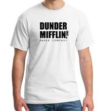 2018 Men Short Sleeve The Office TV Show Dunder Mifflin Paper T-Shirt Crew Neck Tee Shirts For Men(China)