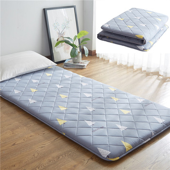 sleeping rug tatami mattress pad folded floor carpet 4cm thickness lazy bed mats double cushion for bedroom and office Japanese Tatami Floor Mat Sleeping Bed Foldable Futon Mattress Topper Comfort Portable Folding Single Double Bed Guest Mattress