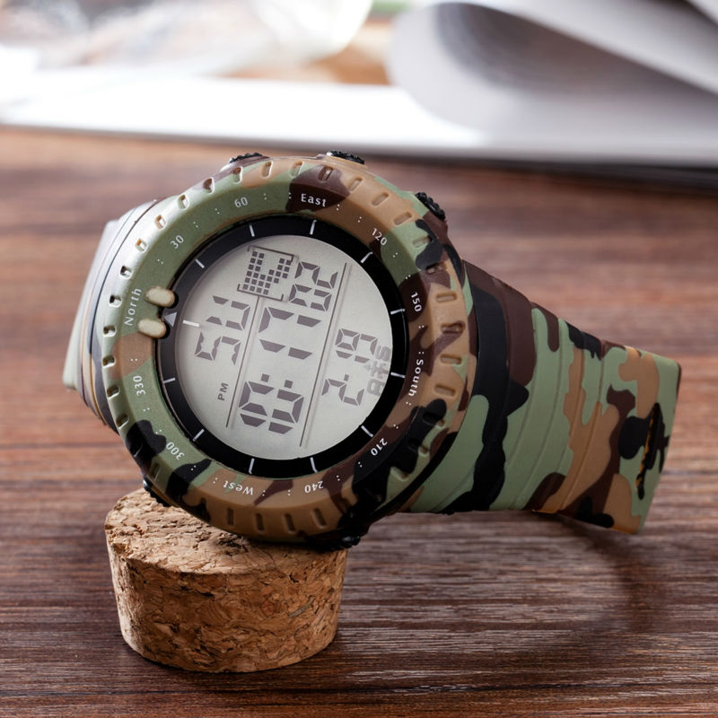 a719b193990 OTS Men s Swimming Waterproof Army Camouflage Military Watch LED Digital  Men Sports Watches Relogio masculino Esportivo Shock-in Digital Watches  from ...